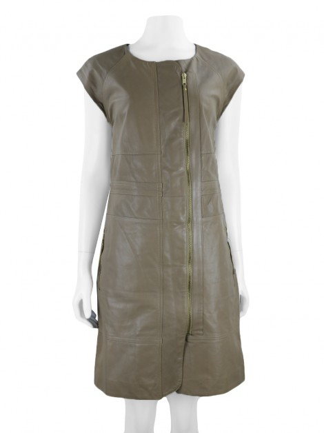 Vestido Marc By Marc Jacobs Couro Nude