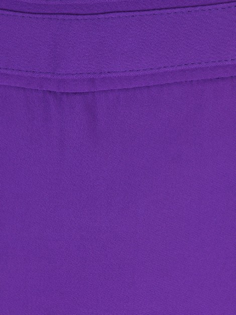 Short Mixed Crepe Roxo
