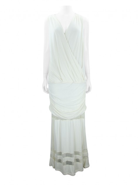 Vestido Mixed Longo Off White