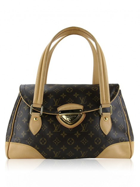 Bolsa Louis Vuitton Monograma Canvas Beverly Marrom GM