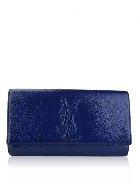 Clutch Yves Saint Laurent Belle Du Jour Azul