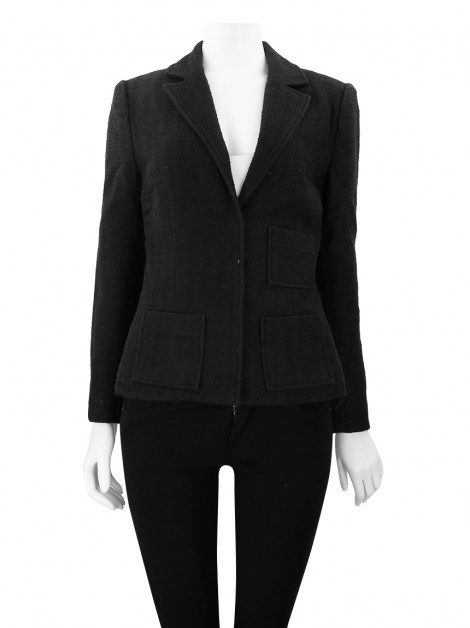 Blazer Mixed Tweed Preto