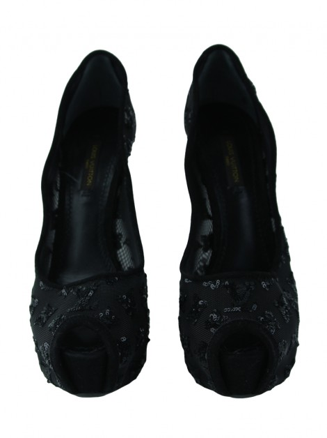Sapato Louis Vuitton Renda Preto