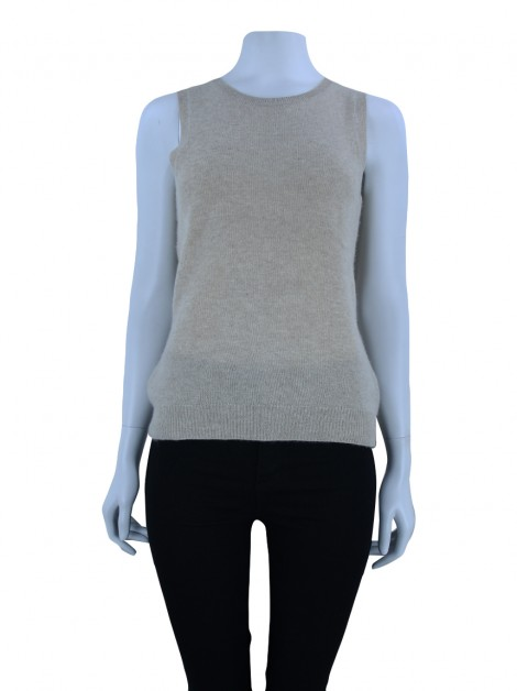 Blusa C By Bloomingdales Cashmere Areia