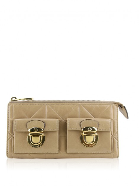 Carteira Marc Jacobs Quilted Bege