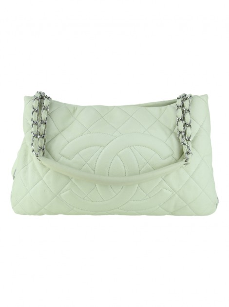 Bolsa Chanel Expandable Zip Off White