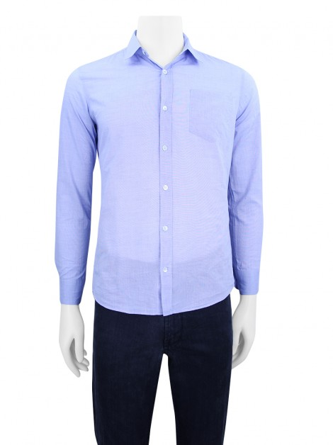 Camisa Dries Van Noten Azul Mescla