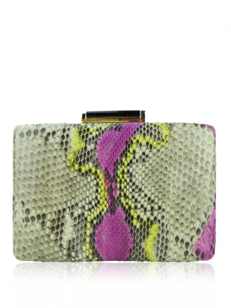Clutch Cris Barros Texturizada Colorida