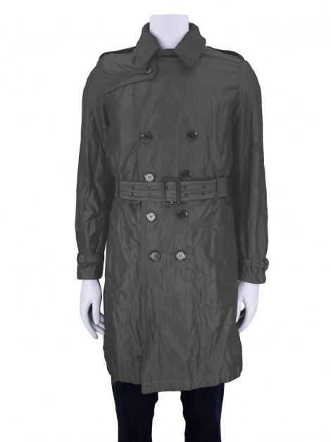 Trench Coat Burberry London Chumbo Masculino
