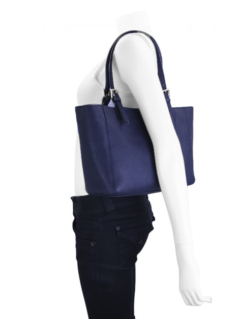 Bolsa Tory Burch Buckle Tote Navy