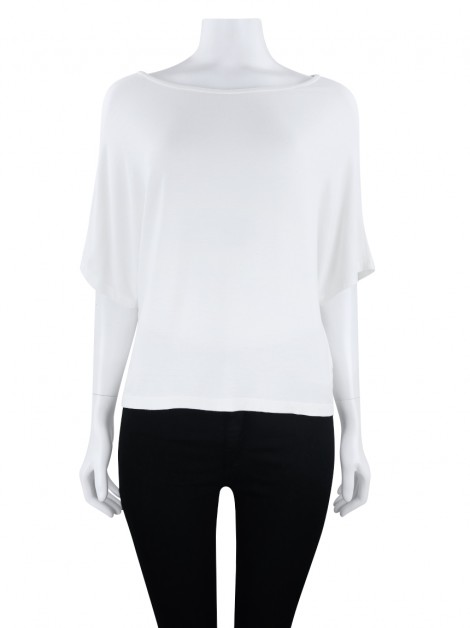 Blusa Fit Ampla Off White