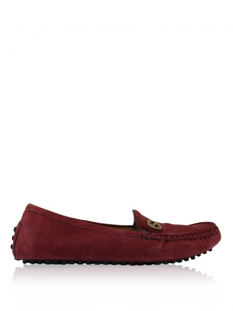 Sapato Gucci Driving Loafers Vinho