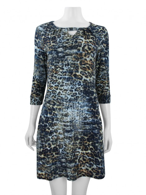 Vestido Fillity Animal Print Multicolor