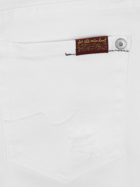 Calça Seven For All Mankind The Skinny Branco Juvenil