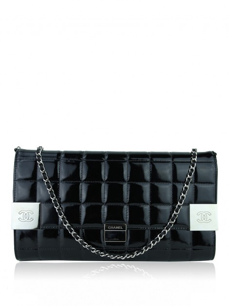 Bolsa Chanel Chocolate Bar Chain Preta