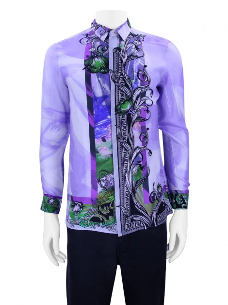 Camisa Versace Collection Seda Estampada Masculina