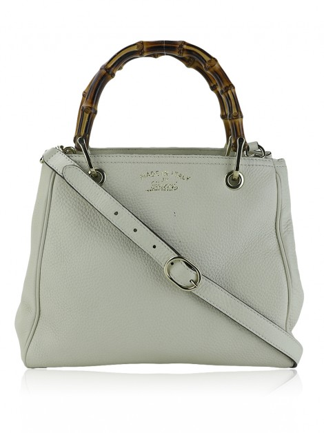 Bolsa Gucci Bamboo Shopper Small Off-White