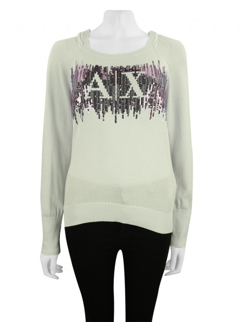 Blusa Armani Exchange Bordada Off-White