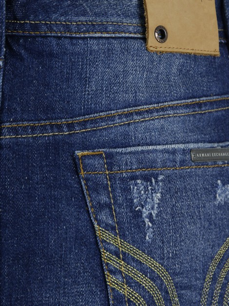 Saia Armani Exchange Curta Jeans