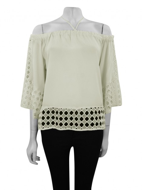 Blusa Animale Seda Off-White