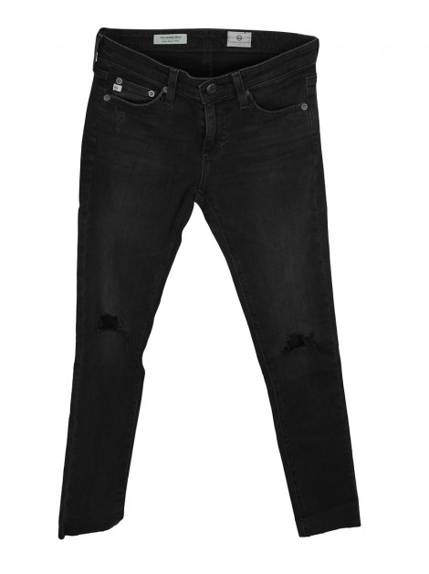 Calça Adriano Goldschmied The Legging Ankle Jeans Cinza