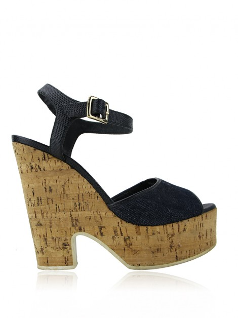 Sapato Fendi Denim & Cork