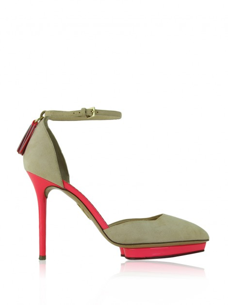 Sapato Charlotte Olympia Heather Bege