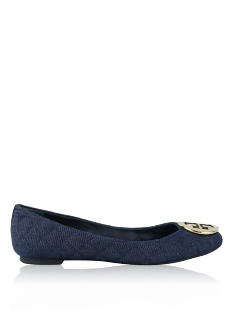 Sapatilha Tory Burch Quinn Quilted Denim