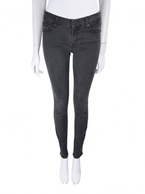 Calça Seven For All Mankind Gwenevere Jeans Cinza