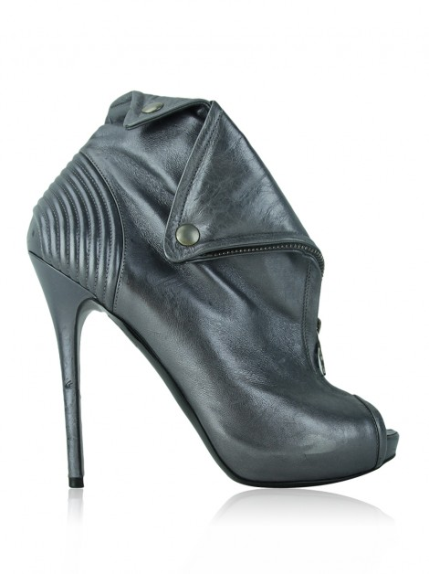 Bota Alexander McQueen Faithful Metalizado