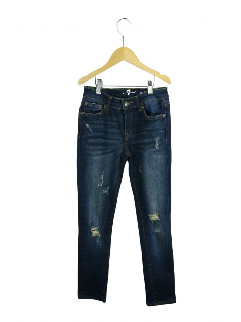 Calça Seven For All Mankind The Skinny Azul Infantil