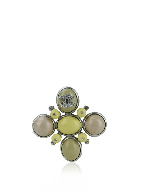 Broche Chanel Pedras e Cristais