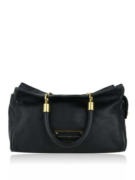 Bolsa Marc By Marc Jacobs Too Hot Couro Preto