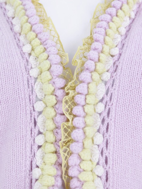Casaco Chanel Tricot Pompons
