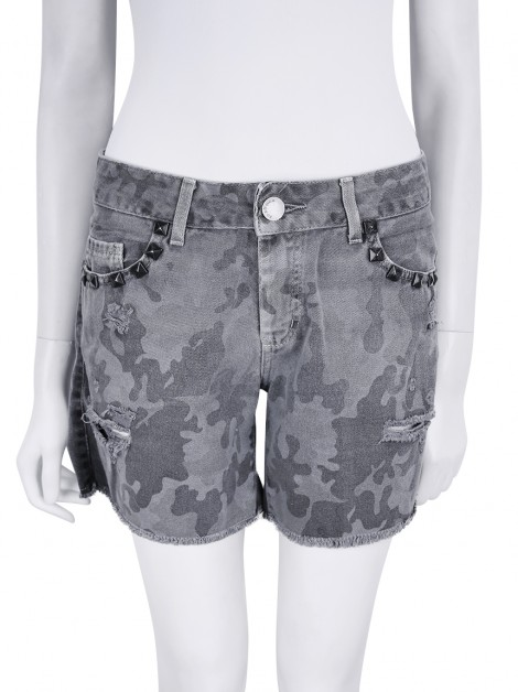 Shorts Bo.Bô Denim Estampado