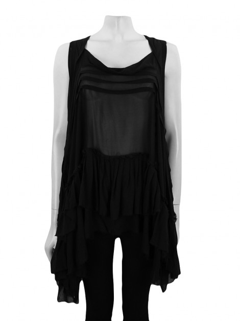 Blusa All Saints Spitalfields Seda Preto