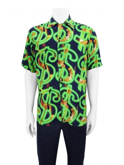 Camisa SSS World Corp Fire Dollar Estampada