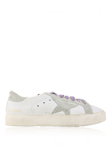 Tênis Golden Goose Deluxe Brand May Perforated Bicolor