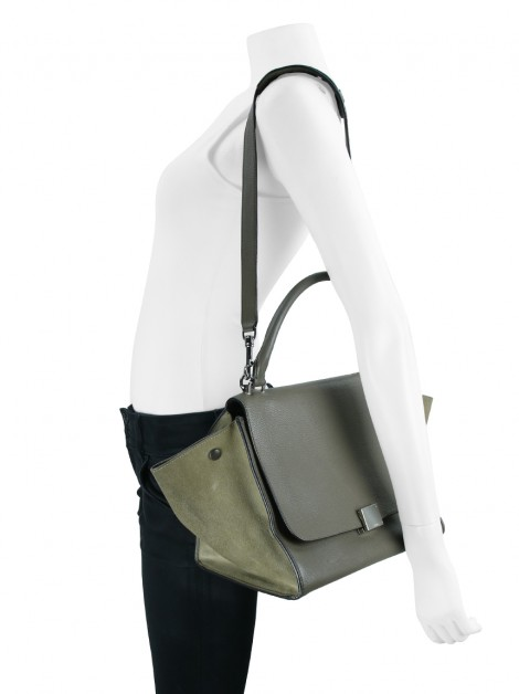 Bolsa Celine Trapeze Medium Souris