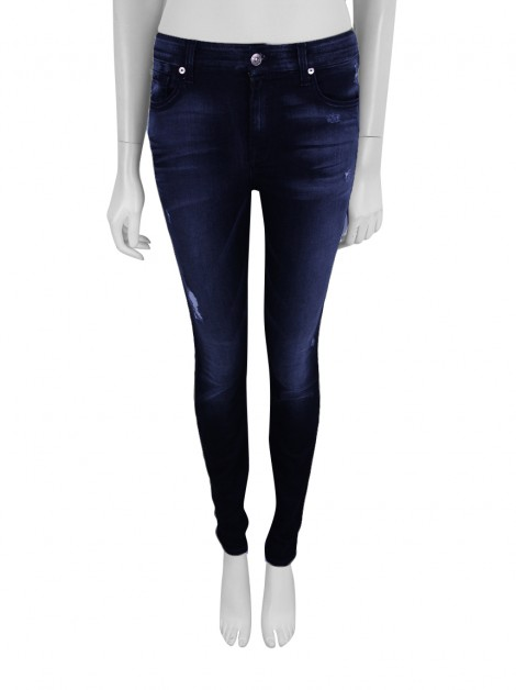 Calça Seven For All Mankind The High Waist Skinny Preto