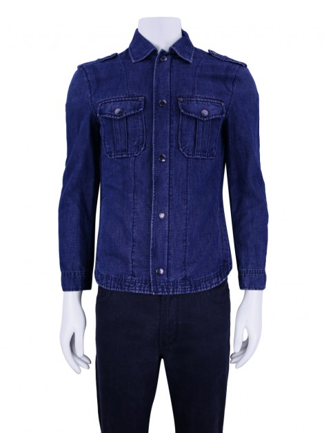 Jaqueta Armani Exchange Denim Azul Masculina