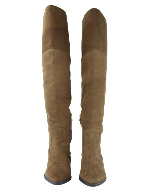 Bota Luiza Barcelos Over The Knee Caramelo