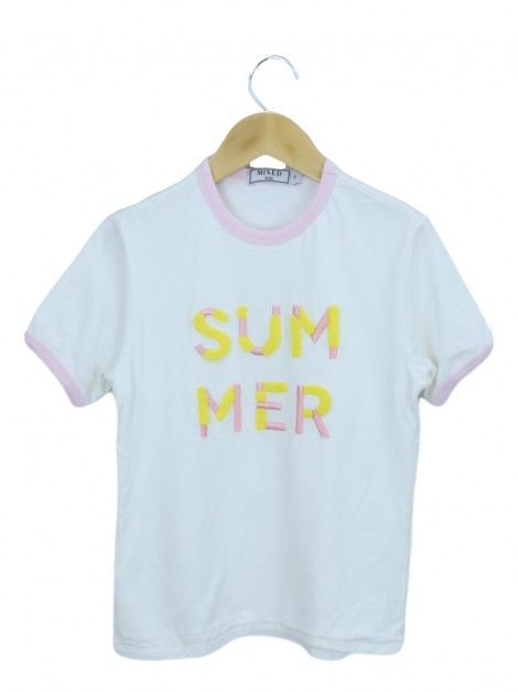 Blusa Mixed Kids Summer Branca Infantil