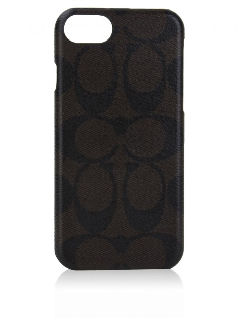Capa iPhone 6 e 7 Coach Signature Marrom