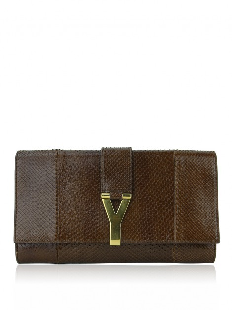 Clutch Yves Saint Laurent Chyc Phyton Marrom