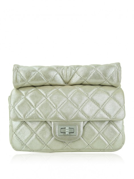 Clutch Chanel Roll Reissue Dourada