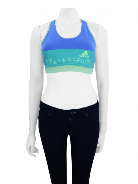 Top Adidas x Stella McCartney Listrado Tricolor