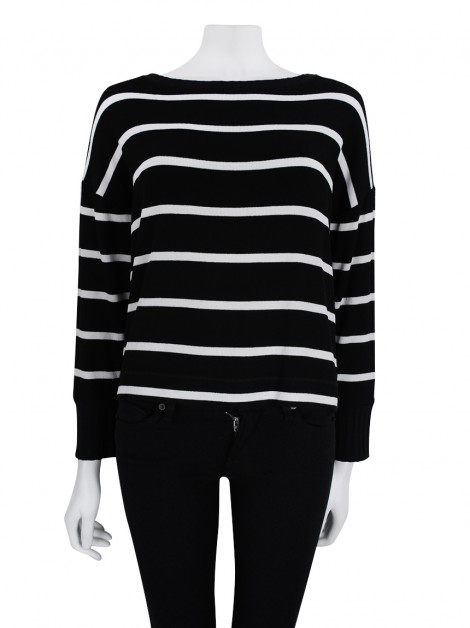 Blusa Le Lis Blanc Striped Bicolor