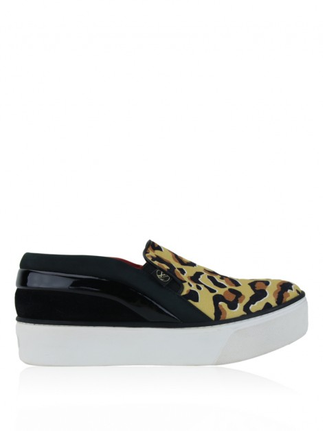 Tênis Louis Vuitton Catwalk Slip On Canvas Leopardo