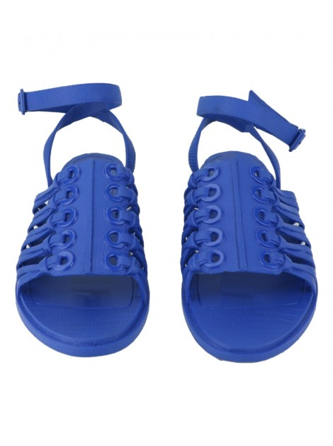 Rasteira Givenchy Rubber Embossed Azul